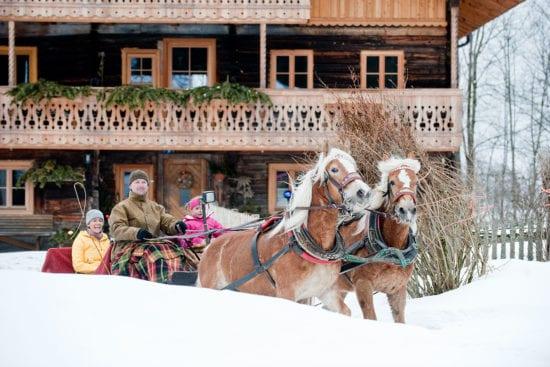Pferdeschlittenfahren - Winterurlaub in Altenmarkt im Pongau